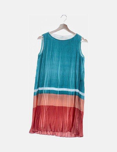 Vestido plisado colores