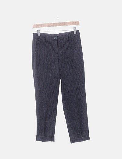 Pantalón chino azul marino raya diplomatica