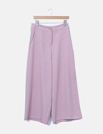 Pantalón fluido rosa palo