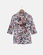 Camisa blanca estampado floral Zendra