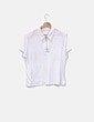 Camiseta blanca con cremallera NoName