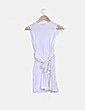 Vestido blanco sin mangas detalle nudo Northland