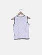 Camiseta tricot blanca rombos Miguel Berbel