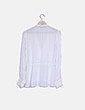 Blusa blanca chorreras Zara