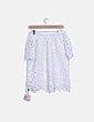 Blusa crochet blanca escote barco NoName