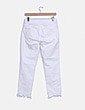 Jeans denim blanco con perlas Zara