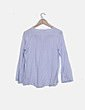 Blusa azul de topos Sfera