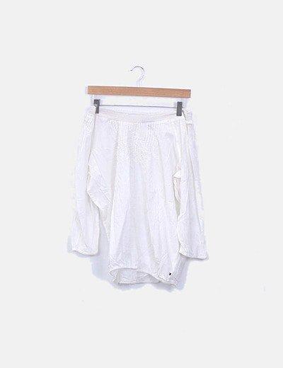 Blusa blanca escote barco