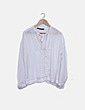 Blusa blanca con lazo al cuello Zara