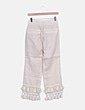 Pantalón culotte beige con flecos Storets