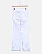 Jeans denim blanco desflecado Zara