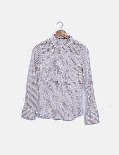 Camisa de rayas satinadas