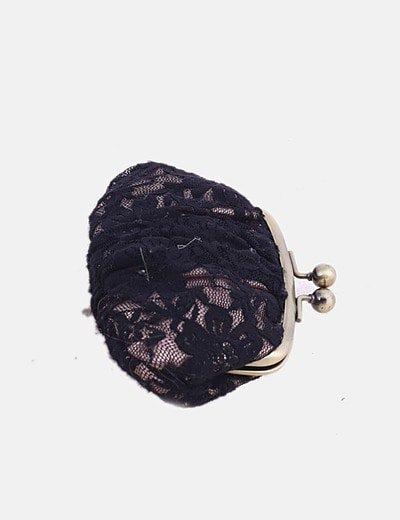 Monedero encaje negro