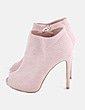 Botines rosa palo con tachas Xti