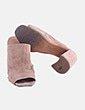 Sandalia textura nude destalonada Belle Hari