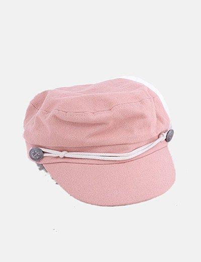 Gorra rosa palo detalle botones