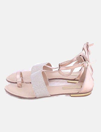 Sandalias rodadas glitter