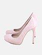 Zapato de tacón rosa Zara