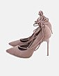 Stiletto beige lace up BLISS Couture