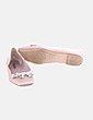 Bailarina rosa satén con perlas Zara
