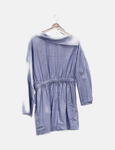 Vestido raya azul