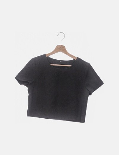 Blusa negra manga corta
