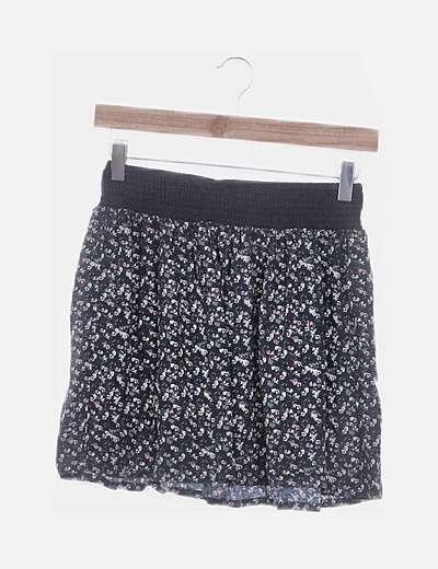 Minifalda estampada con vuelo