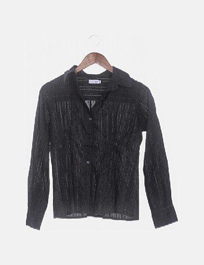 Camisa negra plumetti