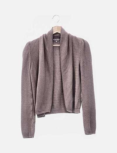 Cárdigan marrón tricot
