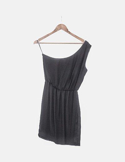 Vestido asimétrico negro