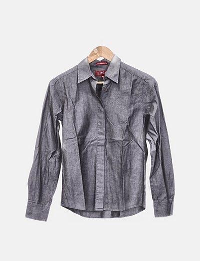 Camisa gris manga larga