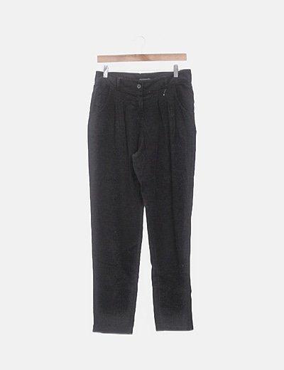 Pantalón negro de pana