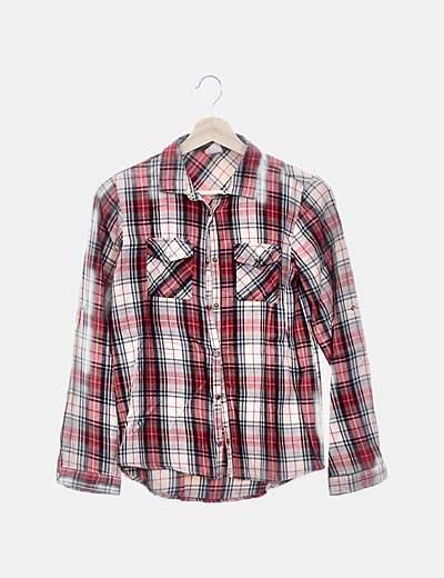 Camisa de cuadros con bolsillos