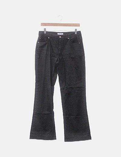 Pantalón denim recto negro