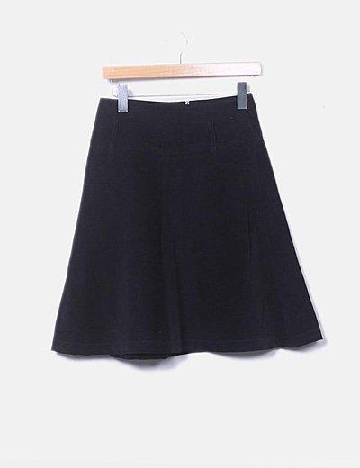 Falda negra de pana