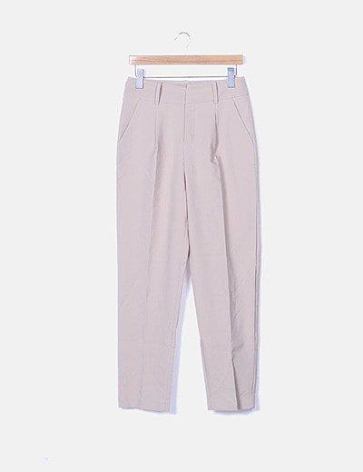 Pantalón de pinzas beige