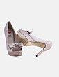 Zapato gold con lazo peep toe Seaside