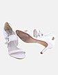 Sandalias tiras blancas combinadas Carmen Steffens