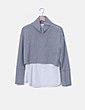 Jersey gris combinado Zara