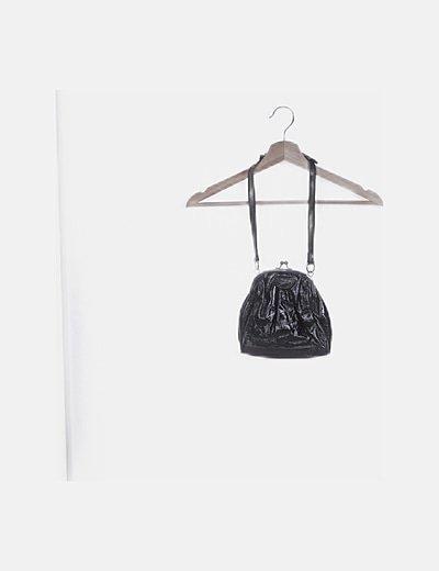 Bolso acharolado negro