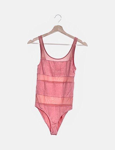 Body rosa con red