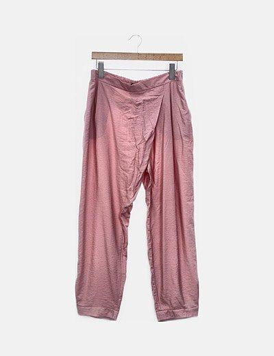 Pantalón baggy rosa