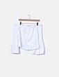 Camisa blanca palabra de honor Zara