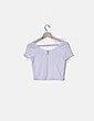 Top blanco rayas semitransparentes H&M