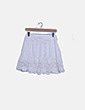 Falda mini blanca combinado crochet Primark