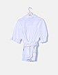 Camisa blanca con cinturón Zara