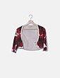 Torera tricot estampado floral rojo Lydia Delgado