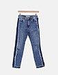 Jeans denim pitillo desflecado Zara