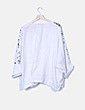 Blusa blanca estampada Eva Tralala