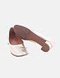 Zapato de tacón dorados Suiteblanco